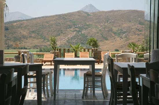 Gokceada, Türkei: The pool from the restaurant