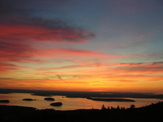 Acadia National Park, เมน: sunrise on mt.Cadillac