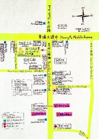 Sunflower's Home Hostel : Hand draw map
