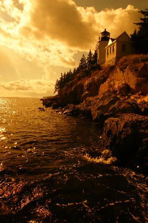 Seawall Motel : Bass Light house at sunset