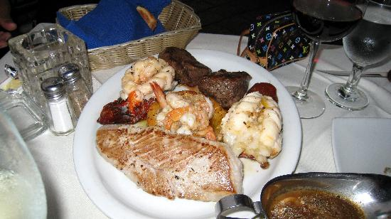 Alexander Restaurant Los Cabos: My overcooked seafood platter