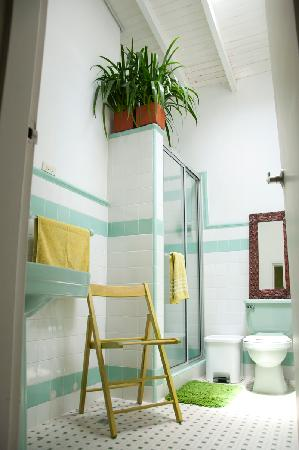 Saman Hostel Medellin: Green Bathoom