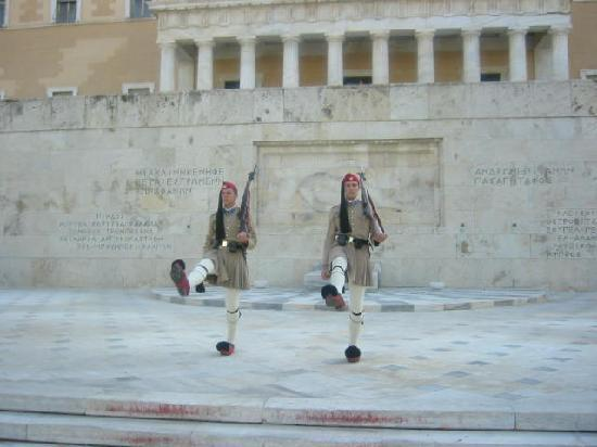 Athens Urban Adventures: Evzones change of guard at the unknown monument