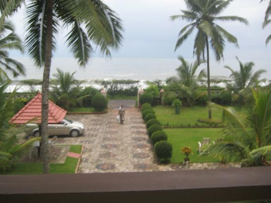 Asokam Beach Resort: View from my upper patio