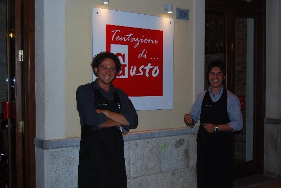 TENTAZIONI DI GUSTO : Gustos two owners