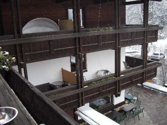 Hotel Geisler: the balkony