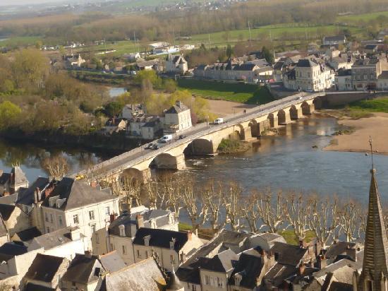 L'Etape en Chinonais: Blick auf der Vienne von Schloss Chinon