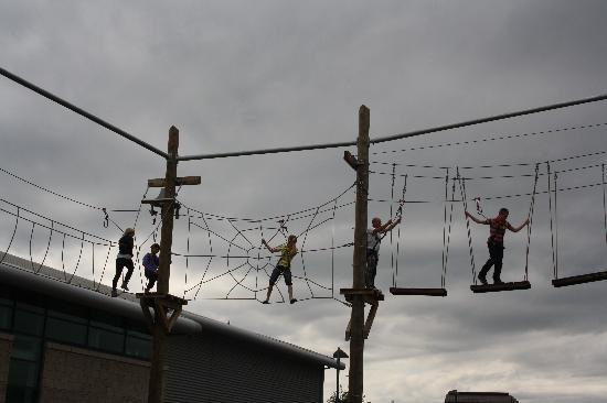 Sheffield, UK: high ropes