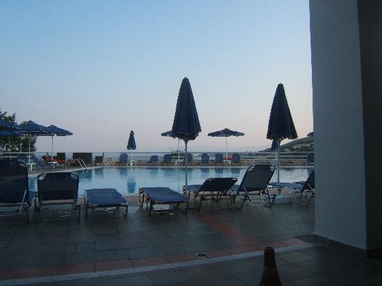Asteris Hotel: view from bar area in the evening