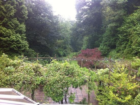 The Waterwheel Inn: view from our room of garden