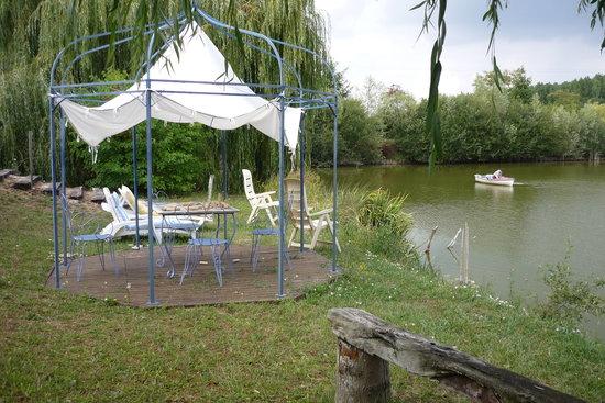Le Pont Prieur : le petit étang de la chambre d'hôte