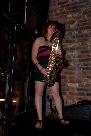 Southampton, UK: sexy sax player at cafe parfait