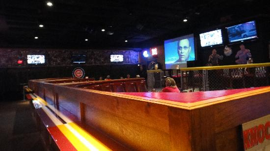 "Monk's Bar & Grill : Inside the ""sports zone"""