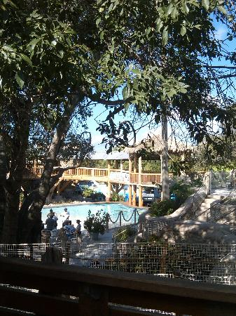 Schlitterbahn New Braunfels Waterpark : View from our Schlitterbahn patio