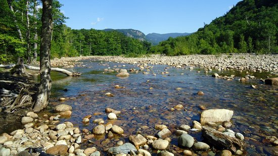Crawford Notch General Store and Campground: Waterfront campsite view