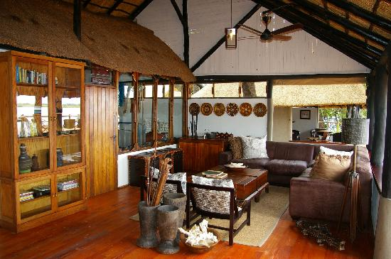 Lounge at Xugana Island Lodge
