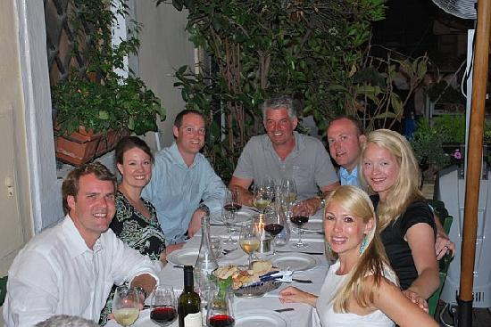 Loving Italy: dinner with Scot and friends