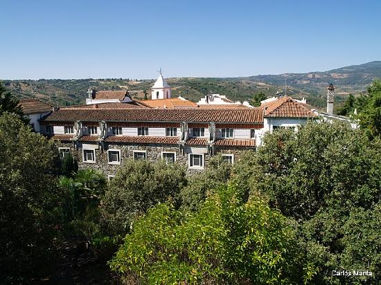 Chacim, Portugal: View from the nearby water tower (those are the room windows)