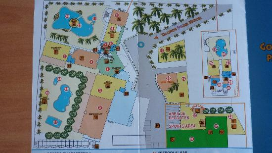 Golden Taurus Park Resort: hotel map part 1