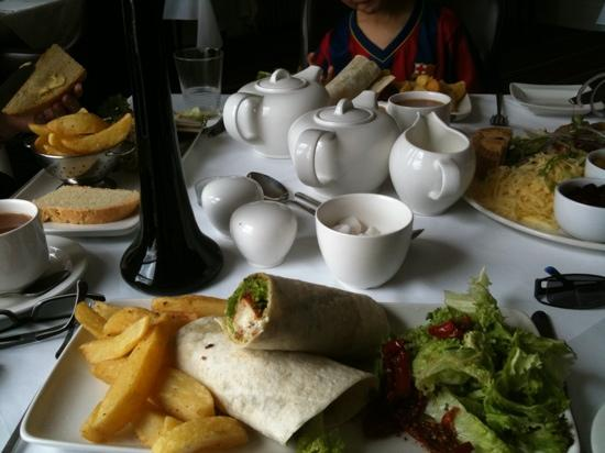 Downcliffe House Hotel: goat cheese wrap was very good
