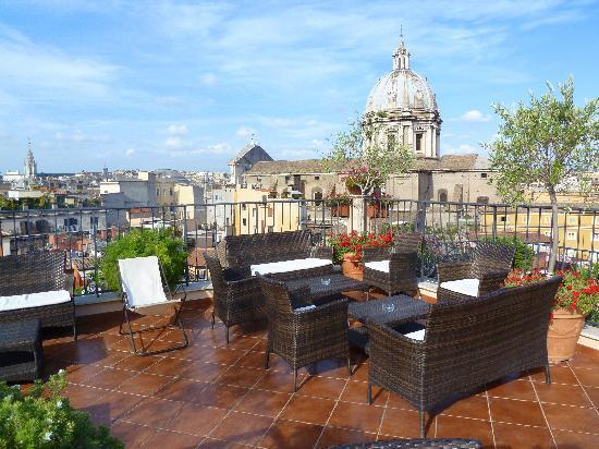 the roof deck Picture of Boutique Hotel Campo de Fiori Rome