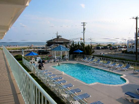Sea Crest Motor Inn: Seacrest motel pool with beach in the background