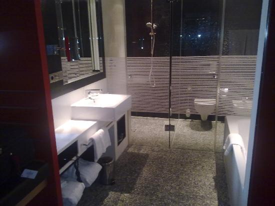 InterContinental Berlin: Room 1013 walkin shower and basin