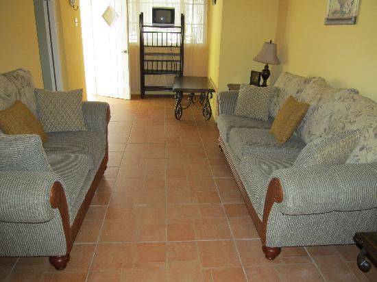 Hotel Tim Bamboo: Villa living room area
