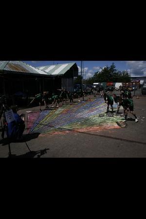 Widnes Market: great street art in the outside market.