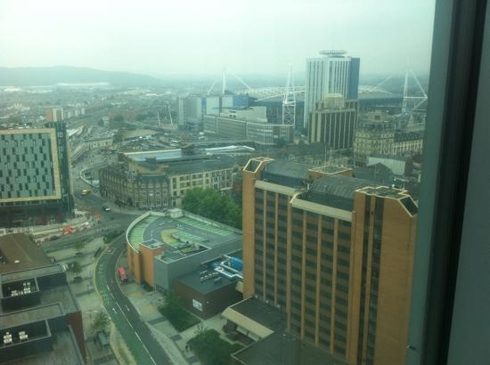 Radisson Blu Hotel, Cardiff: The view from room 2102