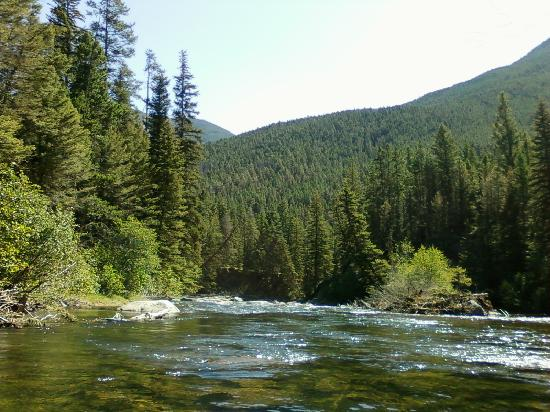 McLeod, มอนแทนา: One of many beautiful stretches of Boulder River on the property