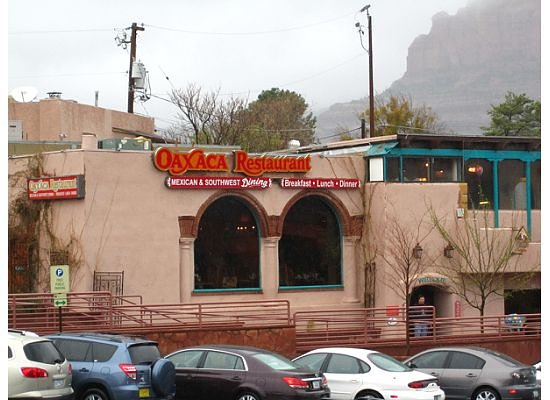 Oaxaca Restaurant : View of the restaurant from across the street; in the heart of uptown Sedona!