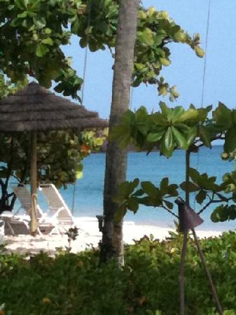 Spice Island Beach Resort: view from our breakfast table
