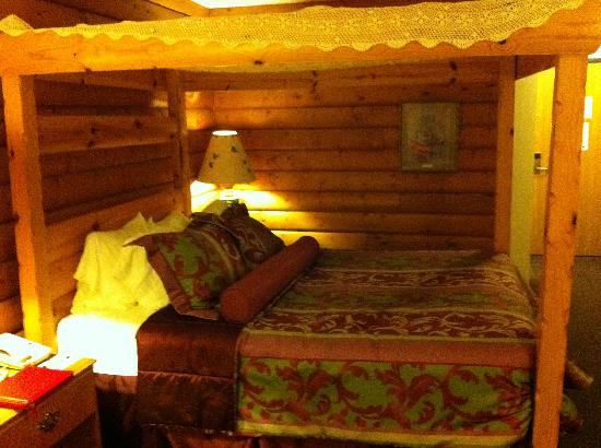 "Best Western Dodgeville Inn & Suites: King size bed, ""log cabin"" room"