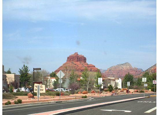 View of Bell Rock from near where the Blue Moon Cafe is.