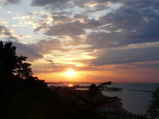 Hotel Sans Souci: tramonto visto dalla terrazza