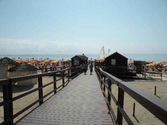 Torreserena Village: L'arrivo alla spiaggia dopo la pineta