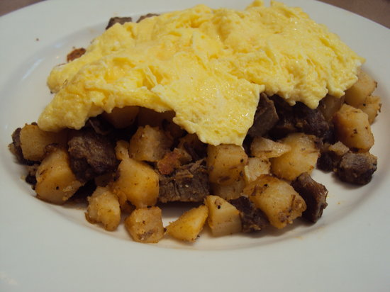 Zia Diner : Corned Beef Hash with scrambled eggs