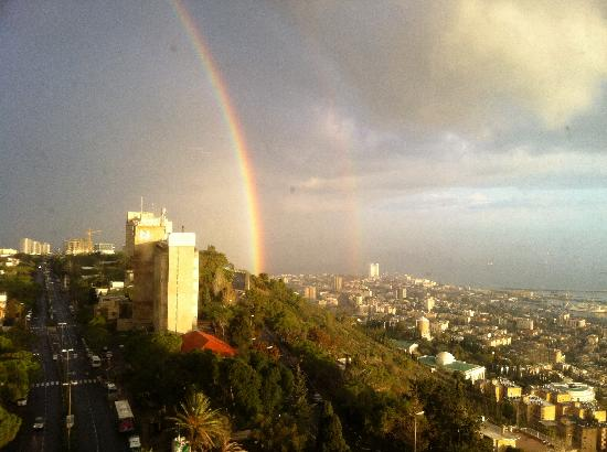 Abboud Tours: Double rainbow over Haifa