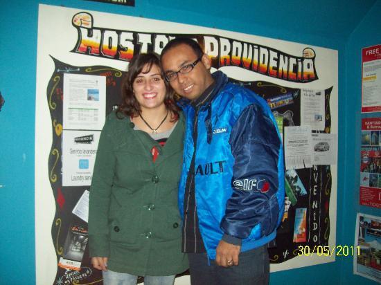 Hostal Providencia: con mi amiga javiera
