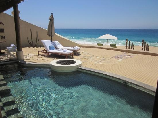 The Resort at Pedregal: view from the shower of the beach casita