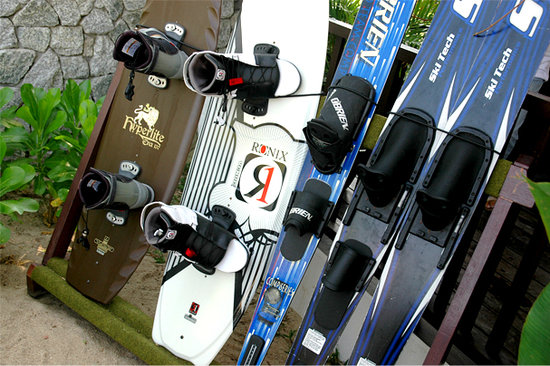 East Wind Watersports : some of our wakeboards and waterskiis