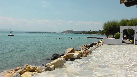Holidays In Evia & Eretria Village Hotels: Vue de la plage du club