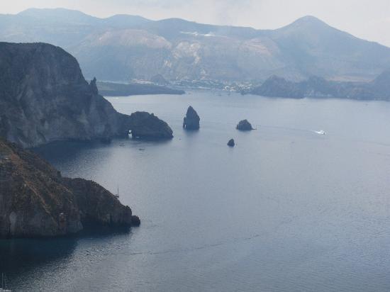 Lipari, Italië: scorcio panoramico su Quattrocchi