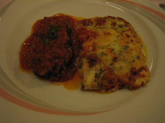 Restaurant Stella D'Oro: bis di primi: melanzane