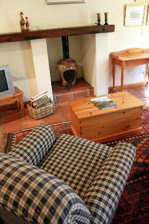 The Coachman Guest House: Fireplace in Koornlands/Langeberg Cottages