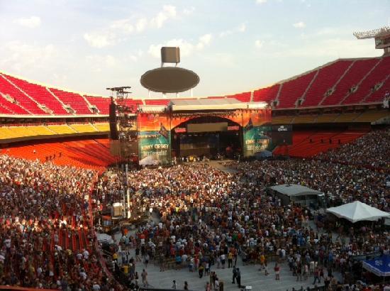 Arrowhead Stadium: Toward the beginning of the show