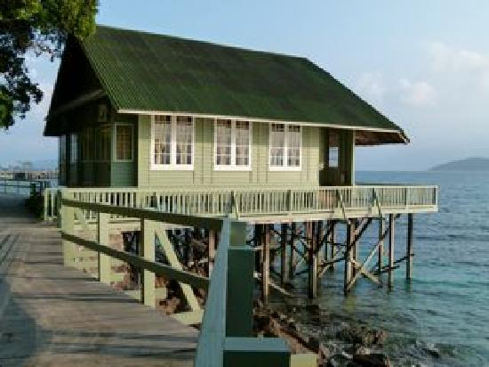 Rawa Island Resort: Sea-facing, over the water ,villa.