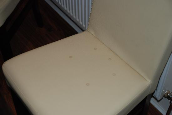 Kenmare Bay Holiday Homes & Lodges: Marks on dining chair