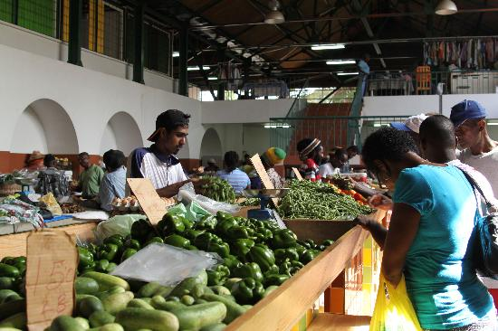 Bridgetown, Barbados: Cheapside Market on Saturday Morning